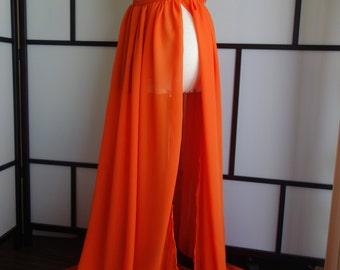 Vic orange maternity dress,Sheer maternity gown,chiffon maternity dress,modeling,senior prop,maternity pros