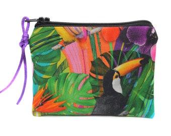 trendy tropical pattern wallet