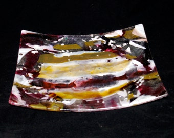 Fused Boiled Glass Fish Platter