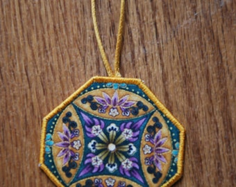 Decoration, Christmas Decoration, Alternative Christmas Decoration, Gold Decoration, Purple and Gold, Fabric Decoration, Christmas