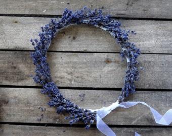 Dried Lavender Bridal Flower Crown - Wedding Crown - For Brides, For Bridesmaids, For Flower Girls