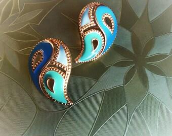 Vintage Avon Paisley Earrings