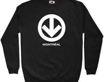 Montreal Metro Sweatshirt - Men S M L XL 2x 3x - Crewneck Montreal Shirt - Quebec - 3 Colors