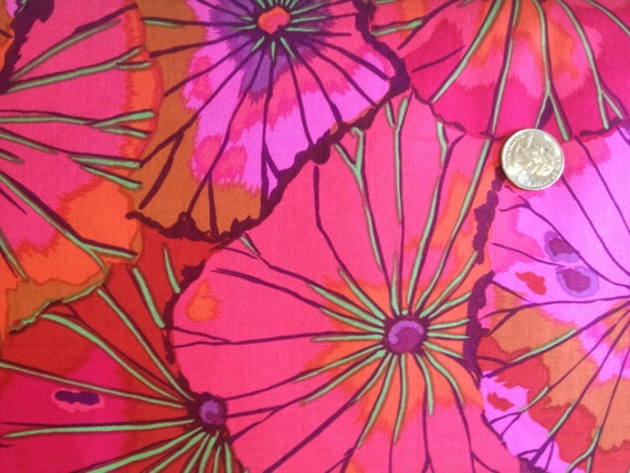 LOTUS LEAF WINE gp29  Kaffe Fassett cotton quilting fabric Sold in 1/2 yard increments
