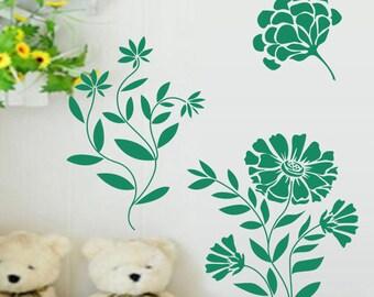 Deco sticker Board 30 x 30 cm Board Nature floral