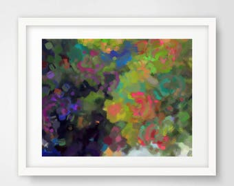 Abstract Nature Art, Flower Art, Forest Painting, Abstract Landscape Painting, Tree Art, Forest Artwork, Abstract Art Print, Home Décor,