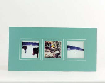 Instagram Collage Photo Mat - Fits 10x20 Frame - Multi Opening - Custom Color