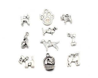 20 different charms animals Theme dog 10 models