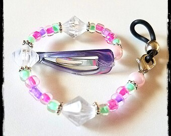 Rockin Aid Retainers:  Spring Pastels!  Made with Czech Glass and Acrylic accent beads! Please select quantity 2 for a pair!