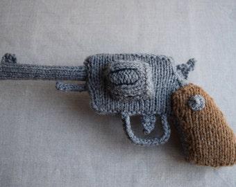 Knitted Revolver PDF Pattern - Knitting pattern for a gun