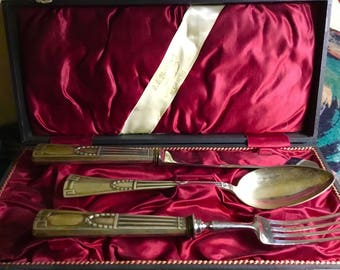 Vintage set of silverware for one person Egoist in a case 80-sample.
