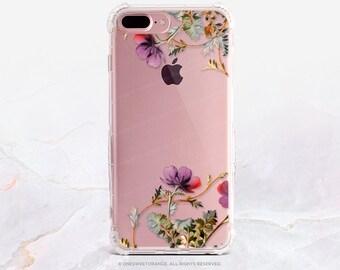 iPhone 8 Case iPhone X Case iPhone 7 Case Floral Clear GRIP Rubber Case iPhone 7 Plus Clear Case iPhone SE Case Samsung S8 Plus Case U40
