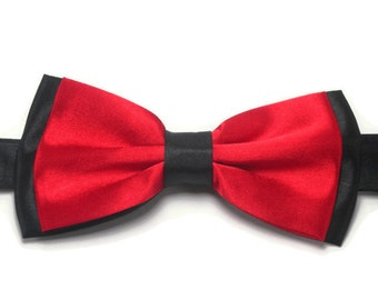 Red and black  bowtie