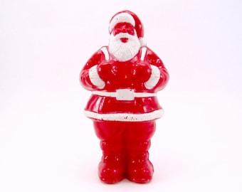 Irwin Santa Candy Container Vintage Hard Plastic Santa 1950s Retro Christmas Decoration