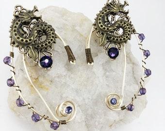 Elven Ear Cuffs - Dragon Ear Cuffs - Elf Ears - Fairy Ears - Fairy Ear Cuffs - Bronze Gold Cuffs - Dragon Cuffs