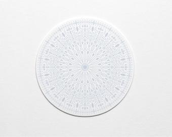 Letterpress Periwinkle Ornate Pattern Coaster