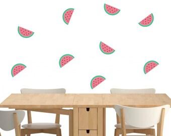 Watermelon Wall Decal, Cute Watermelon Slice Wall Decal, Watermelon Slices Wall Decor, Nursery Decor, Kitchen Decor