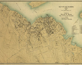 Poster, Many Sizes Available; Map Of Bar Harbor, Maine, 1896