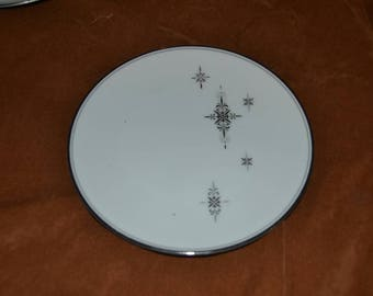 Set of 4 Noritake Stella Bread and Butter Plates Star Burst Design