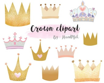 Crown clipart  Instant Download PNG file - 300 dpi