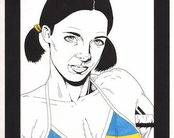 Lina in Ukrainian Bikini