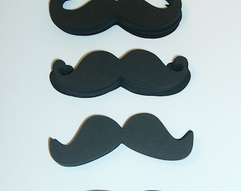 "100 Mustache Die Cut 3.5"" in length Mustaches Cut Outs (3001M)"