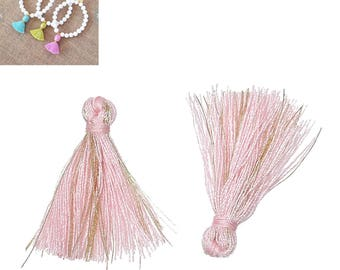 20 charms 25mm - clear SC64864 Roce Polyester fringe tassels-