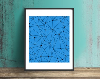 Blue Geo Print #1