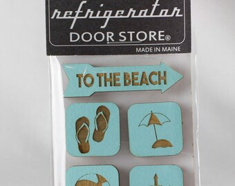 Gift for him. Gift for her. Refrigerator Magnet. Fridge Magnets. Kitchen Magnets. Magnets. To The Beach.