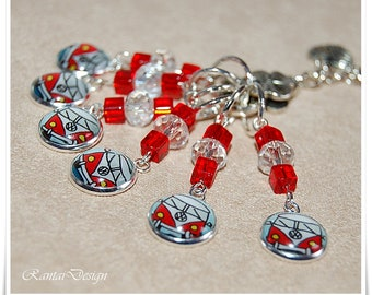 Stitch Markers for knitting Cabachon marker bus ring marker stitch Marker
