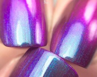 NEW-Majesty-Mega Multichrome -Multi-Color Shifting Polish:  Custom-Blended Glitter Nail Polish / Indie Lacquer / Polish Me Silly