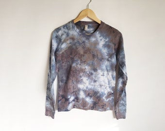 Womens Long Sleeve TShirt in Hand Dyed Geode