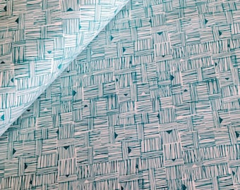 Cross Hatch in Jade, from Star Landing by Jeanean Morrison and freespirit fabrics, 1/2 YARD