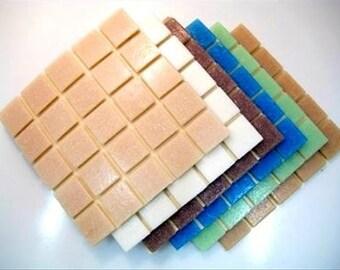 Mosaic Tiles Mixed 2cm x 2cm x 4mm thick. Subtle Blend 200 Tile Mix