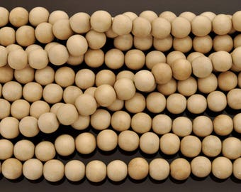 Perles de bois rondes naturelles 4mm ou 6mm