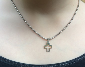 Cross Necklace, Christian Jewelry, Christian Necklace, Silver Cross Pendant, Confirmation Gift, Baptism Gift, Silver Necklace, Cross Charm