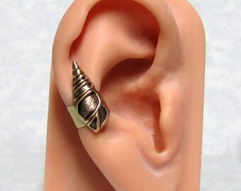 Sea Snail Nautical Ear Cuff