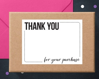 Sticky Thank You Notes | Thank You Cards | Packaging Stickers | Business Thank You Stickers | Write-On Thank You Labels | Poshmark Stickers