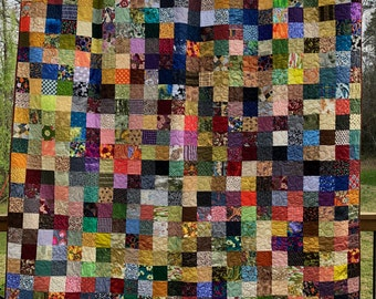 Fall Colors Handmade Quilts - Patchwork Queen Quilts - Traditional Quilts