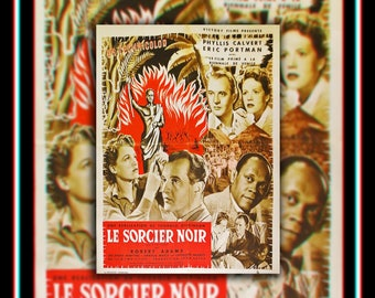 MEN Of TWO WORLDS (1948) Robert Adams Very Rare 24x32 Fold French Moyenne Movie Poster Original Vintage Collectible