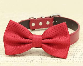 Red Dog Bow tie, Cute chic dog bow tie, Christmas, Valentine's Day, Wedding gift, Red Bow