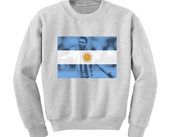 Russia World Cup 2018 Graphic Sweatshirt ARGENTINA Flag Football Team Soccer