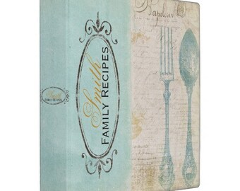 Antique Letters Personalized Recipe Binder