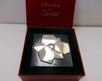 DELICES DE CARTIER Floral Mirror Item W # 709