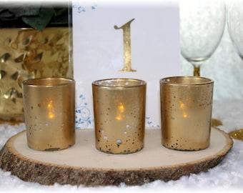 Gold Mercury Glass Candle Votive Mercury Glass Tea Light Votive Holder Gold Mercury Glass Gold Speckled Glass Candle Holder