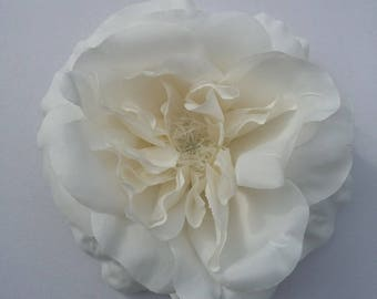 Antique White Rose - millinery - home decor - bridal - hair accessories