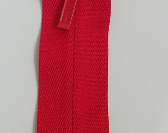 YKK invisible zipper (R01-19) Cherry zip - 19 cm high quality red solid strong sturdy zip