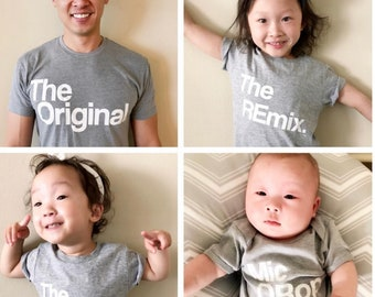 Mens Clothing   Dad Shirt   Original Family Set   Matching   Mini me   For Him   Fathers Day   Tops and Tees   Remix