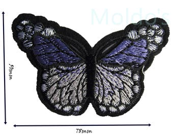 Purple Butterfly Iron Sew On Embroidered Patch Badge Patches Logo Badges #004