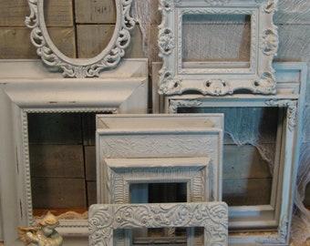 Large Frame Collection - Nursery Frames - Wedding Frames - Paris Gray Chalk Paint - Farmhouse Frames -  Chalk Paint and Distressed Frames